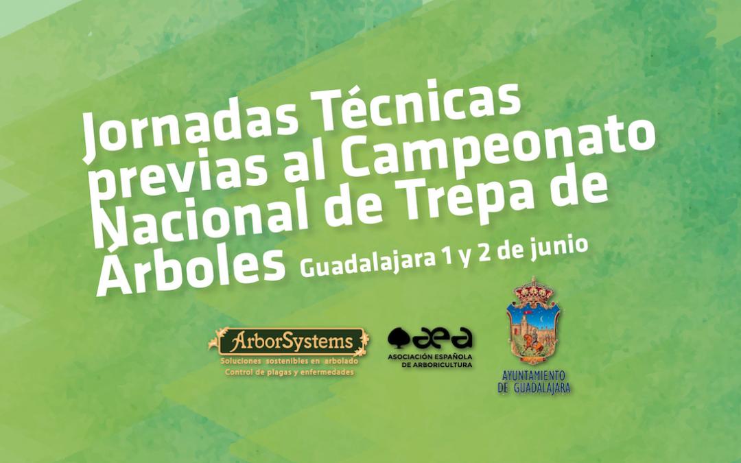 Jornadas Técnicas previas al Campeonato Nacional de Trepa de Árboles: Guadalajara 1 y 2 de junio