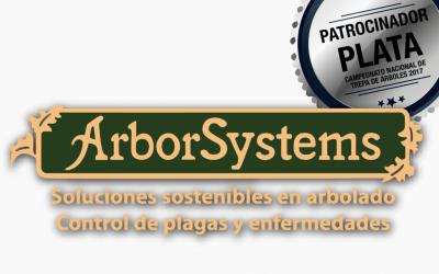 ARBORSYSTEMS: PATROCINADOR PLATA DEL CAMPEONATO DE TREPA