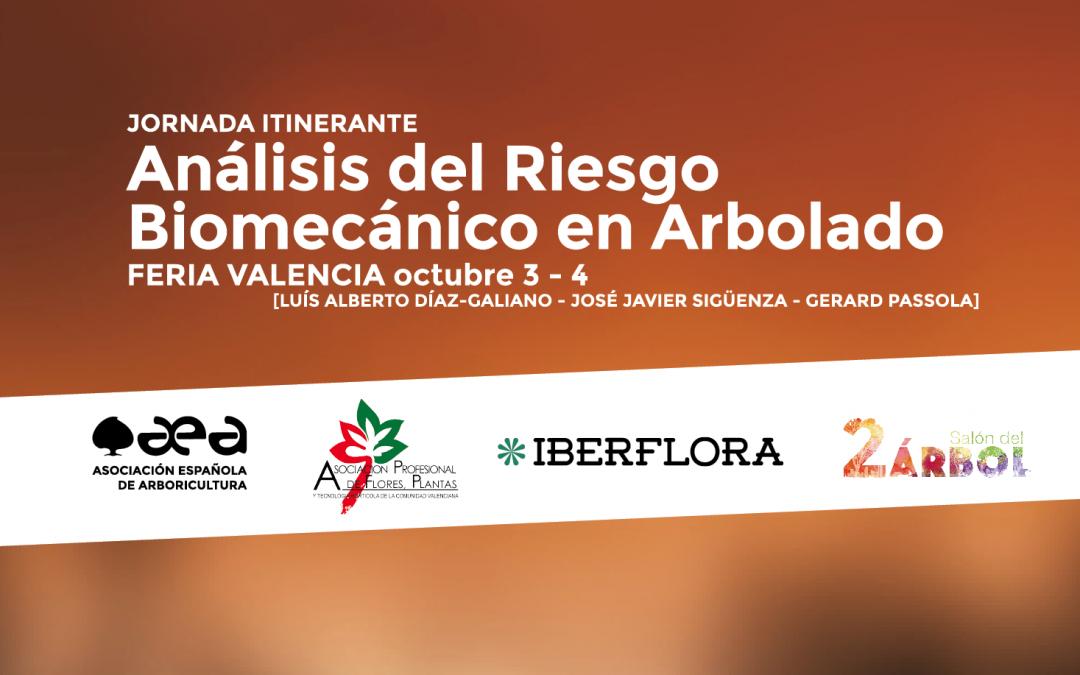 JORNADA ITINERANTE: Análisis de Riesgo Biomecánico en Arbolado – Valencia 3-4 de octubre