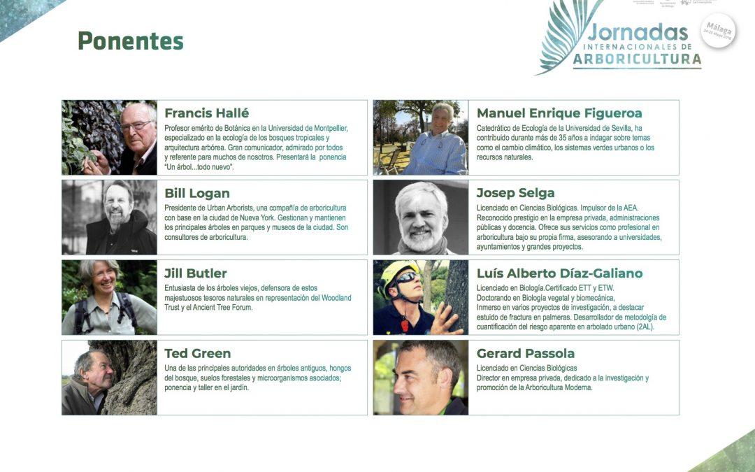 Jornadas Internacionales de Arboricultura: ponentes