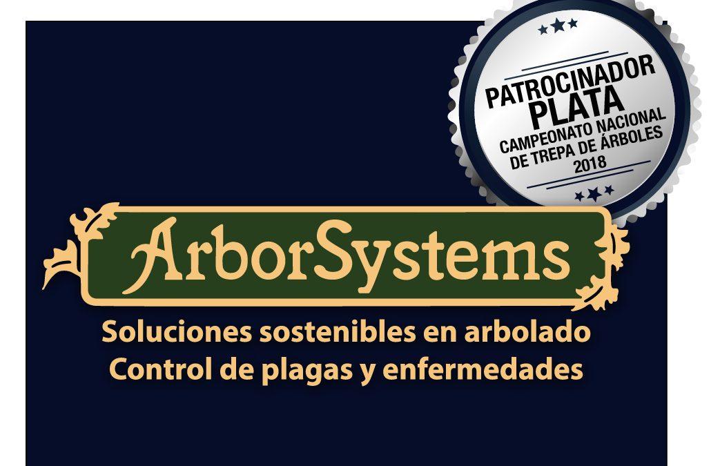 ARBORSYSTEMS PATROCINADOR PLATA DEL CAMPEONATO DE TREPA 2018