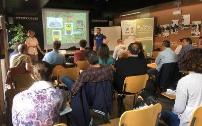 Estamos en el Curso de Protección Integrada orientada a la Arboricultura con Edith Mühlberger en Madrid