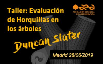 Taller de evaluación de Horquillas en los árboles. Duncan Slater. Madrid 28/06/2019