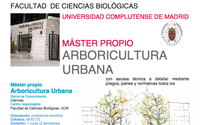Toda la información sobre el Máster de Arboricultura Urbana