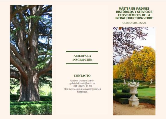 Máster en Jardines Históricos y Servicios Ecositémicos de la Infraestructura Verde