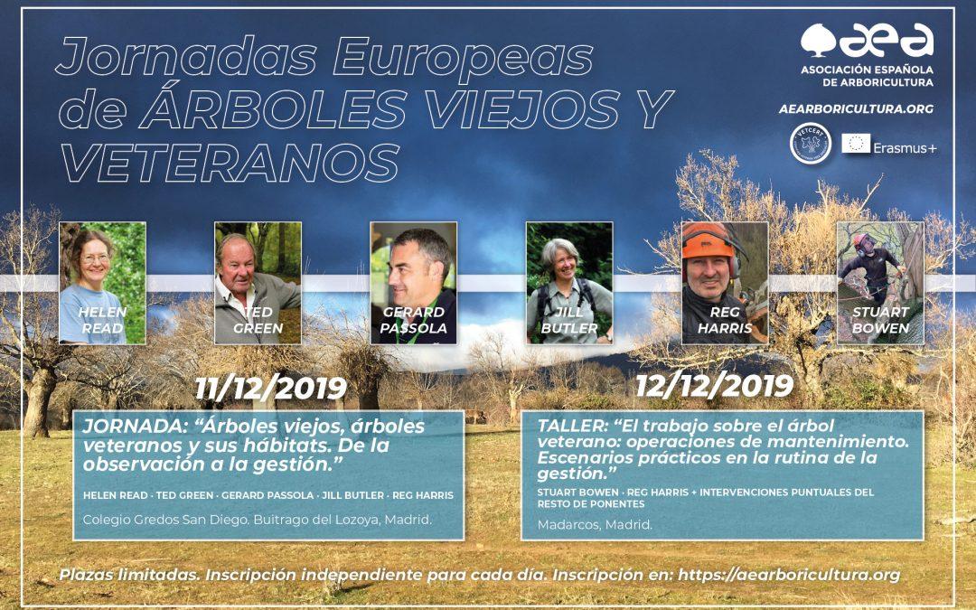 Jornadas Europeas de ÁRBOLES VIEJOS Y VETERANOS. MADRID 11-12 DICIEMBRE 2019