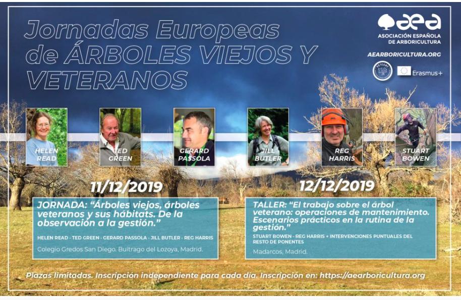 Jornadas Europeas de ÁRBOLES VIEJOS Y VETERANOS, libros y asistentes