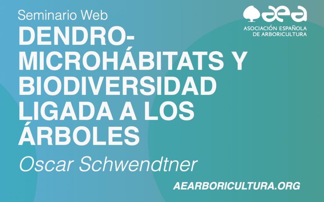 Finaliza la primera sesión del seminario web DENDRO-MICROHÁBITATS Y BIODIVERSIDAD LIGADA A LOS ÁRBOLES