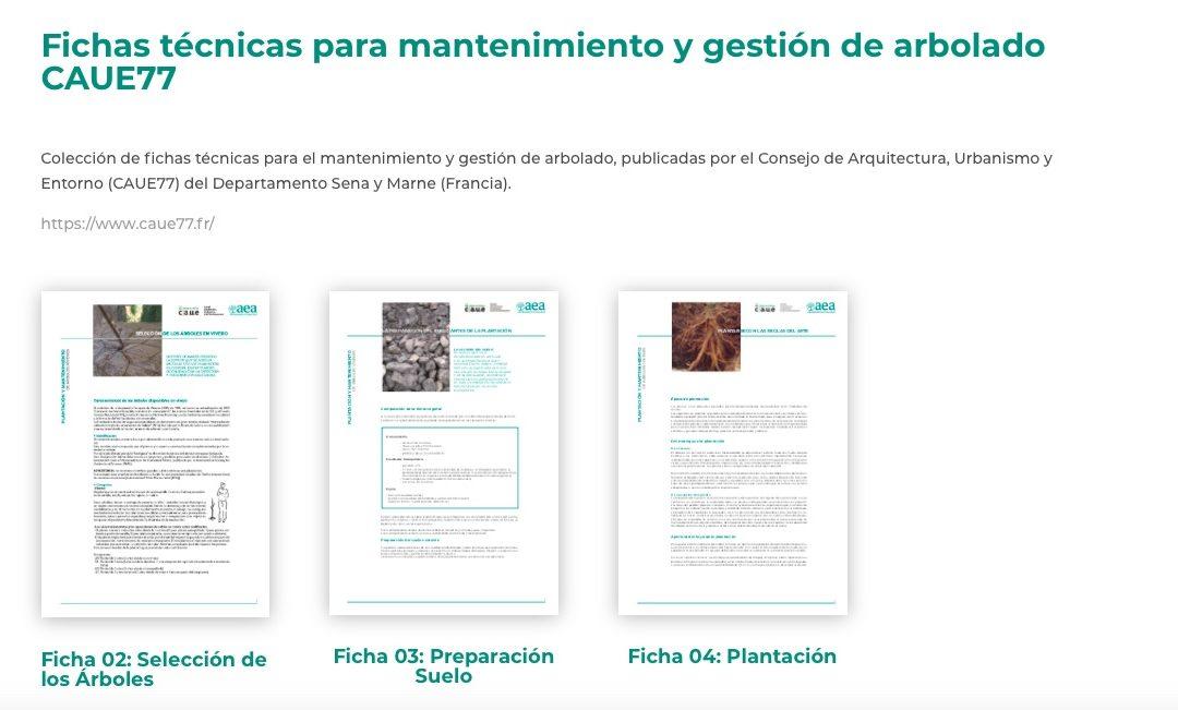 Fichas técnicas para mantenimiento y gestión de arbolado CAUE77