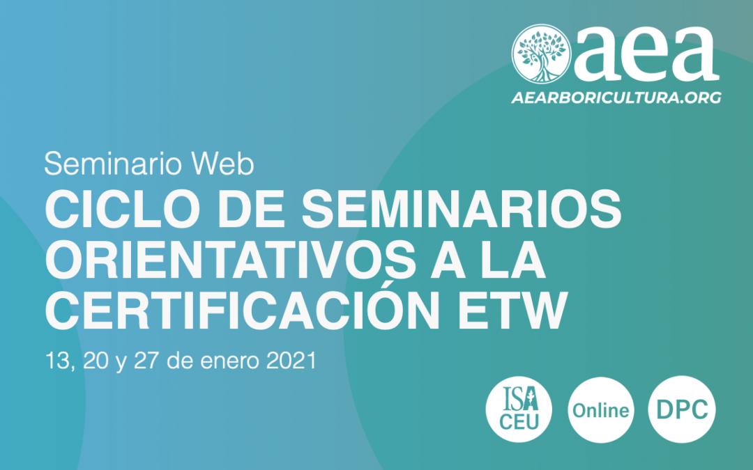 Últimas plazas para el 'Ciclo de seminarios orientativos ETW
