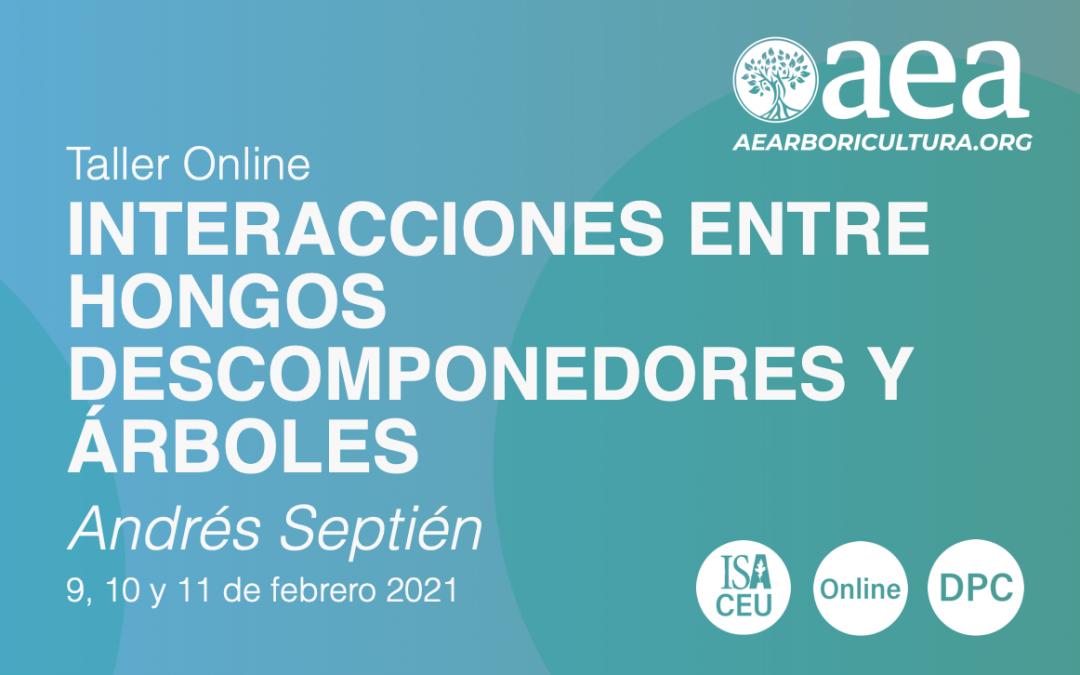 TALLER ONLINE: INTERACCIONES ENTRE HONGOS DESCOMPONEDORES Y ÁRBOLES – ANDRÉS SEPTIÉN
