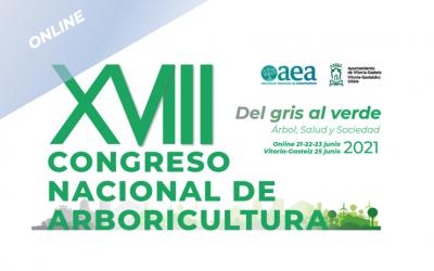 El XVIII Congreso Nacional de Arboricultura ONLINE del 21 al 23 de junio de 2021