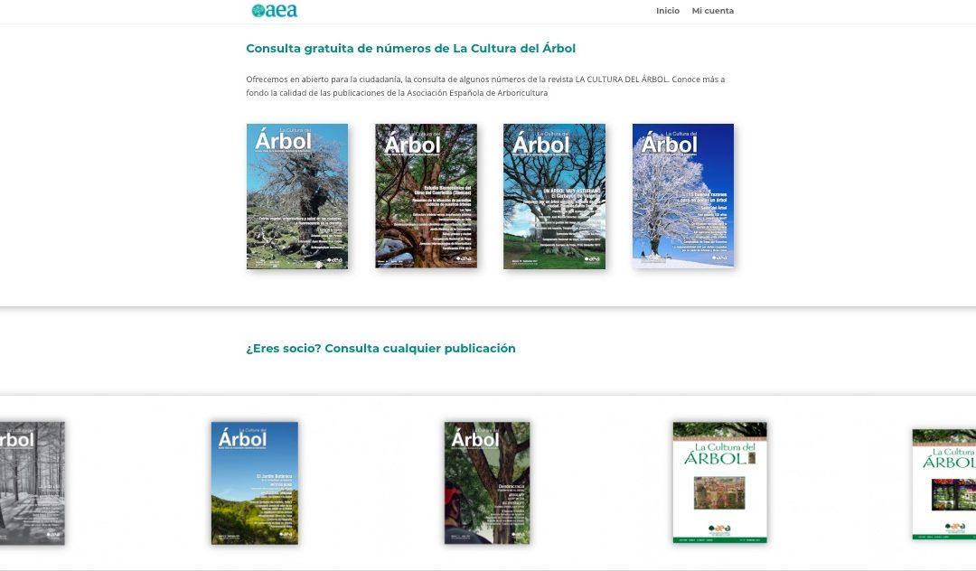 Renovamos el área web de la revista La Cultura del Árbol
