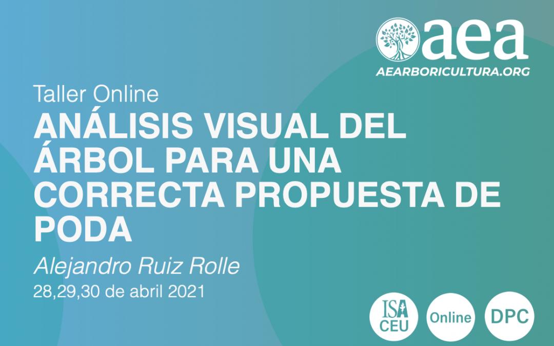 TALLER ONLINE: ANÁLISIS VISUAL DEL ÁRBOL PARA UNA CORRECTA PROPUESTA DE PODA