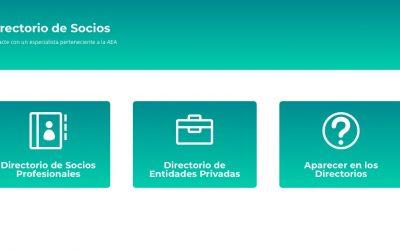 La web se renueva con el Directorio de entidades privadas y socios profesionales