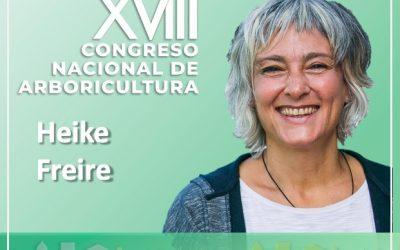 Heike Freire, ponente de la sesión presencial del Congreso Nacional de Arboricultura
